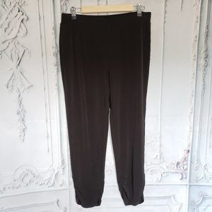 Chico's Black Ruched Ankle Pants Size 1